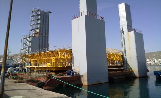 Floating Concrete Production Unit